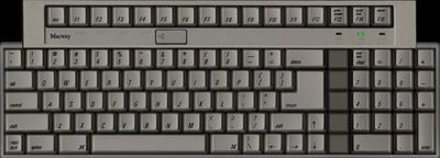 TEC PARTS Macway Keyboard ADB US Beige